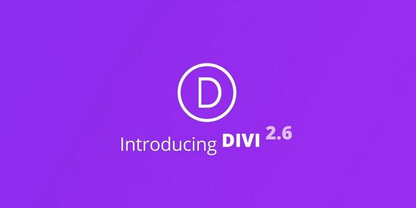 Divi 2.6. Release