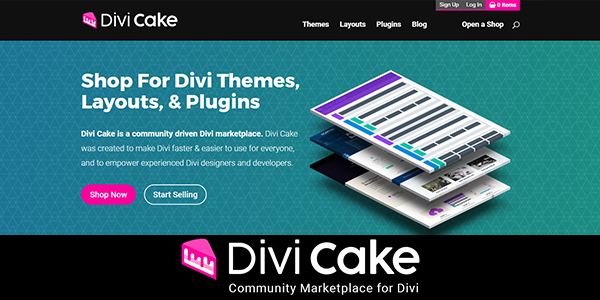 Divi Cake Marketplace