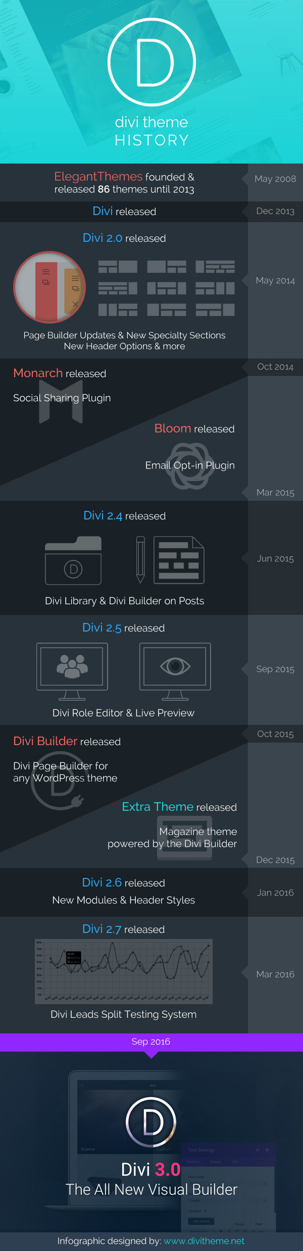 Divi History Infographic