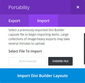 Import & Export Divi Layouts