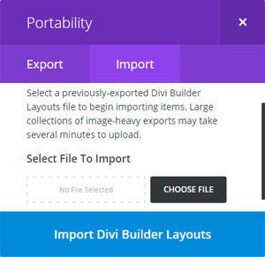 Import & Export Divi Layouts