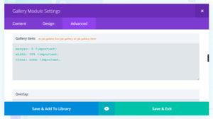 Gallery Custom CSS Code