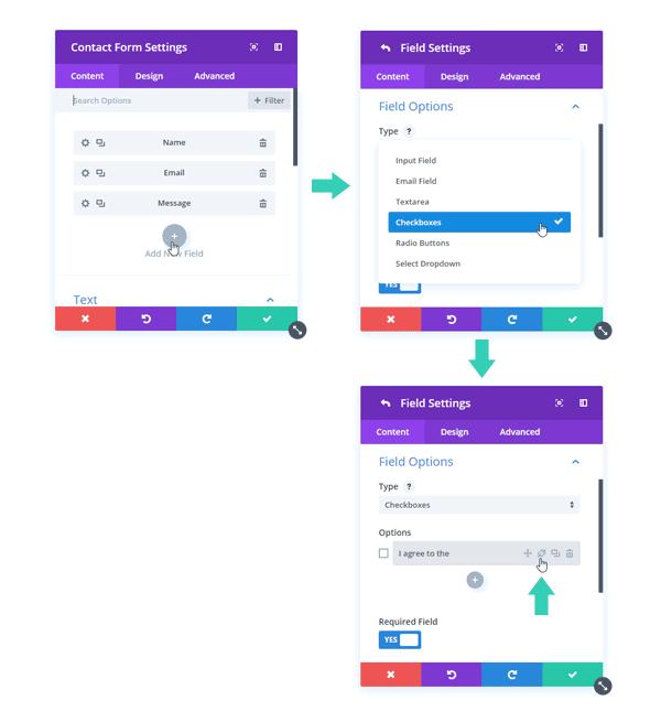Custom Field Contact Form