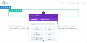 Divi Theme Visual Builder