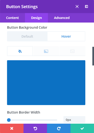 Button Hover Settings