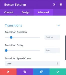 Button Transitions Settings
