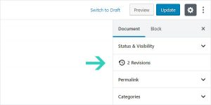 Revisions Link WordPress