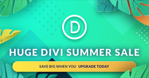 Divi Summer Sale 2019