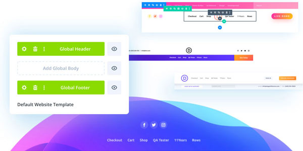 Divi 4.0 Headers and Footers