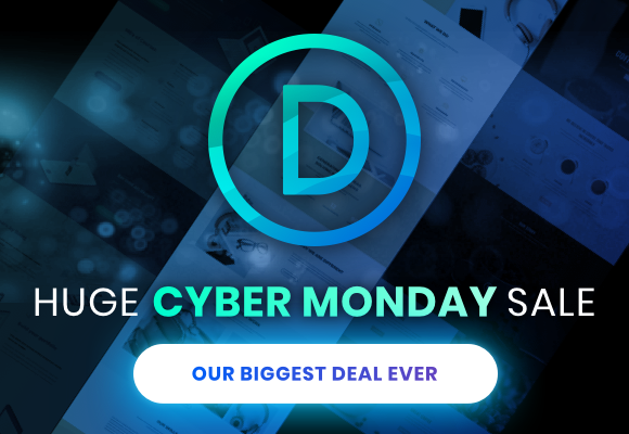 Elegant Themes Cyber Monday Sale