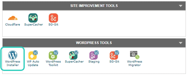 Install WordPress SiteGround CPanel