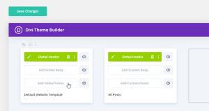 Divi Theme Builder Custom Header