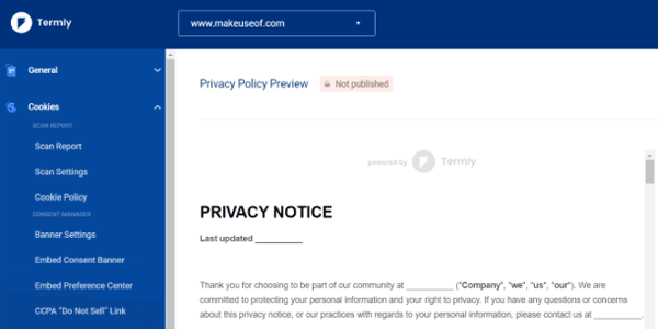 Termly Privacy Notice