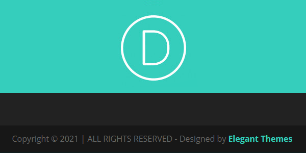 Change Divi Footer Text Size