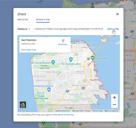 Embed Google Map into Divi Code Module